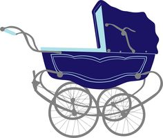 236x200 Blue Baby Carriage Clipart Silhouette