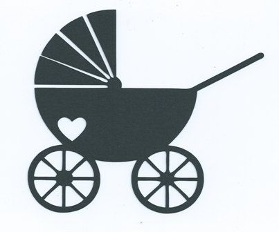 403x336 Baby Stroller Or Pram Silhouette Embellishments Silhouettes