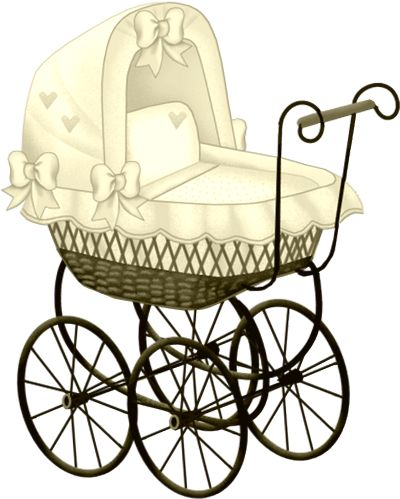 Baby Carriage Silhouette Clip Art