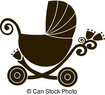 215x194 Girl Mom Baby Wheelchair. Illustration Of A Woman In A Vector