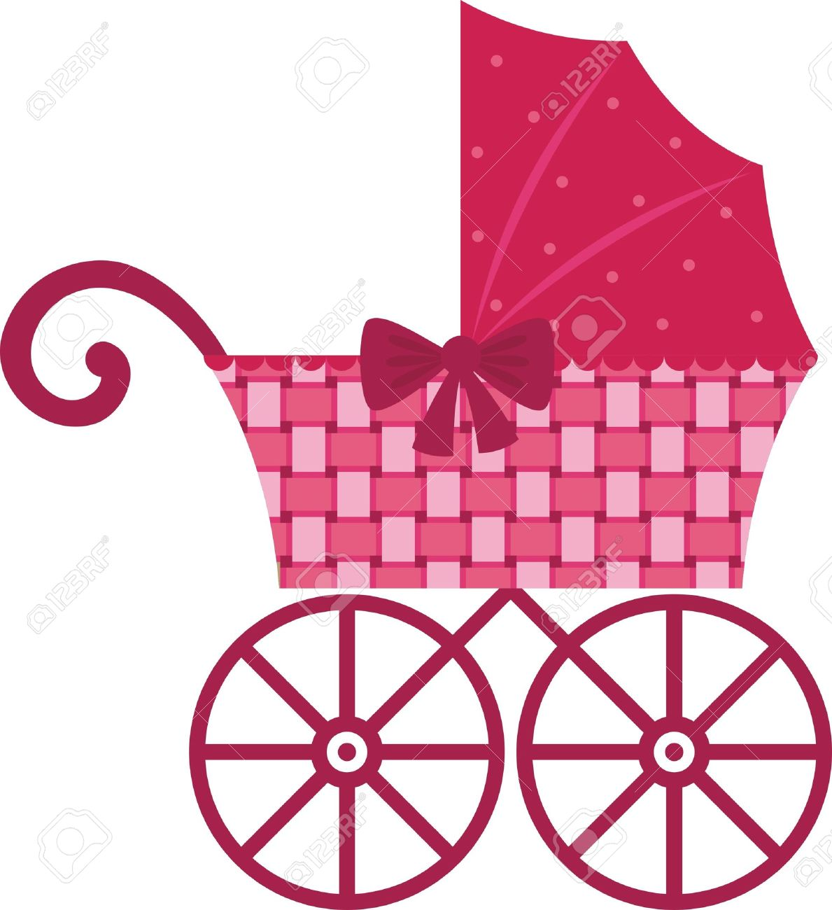 1189x1300 Pink Clipart Baby Stroller