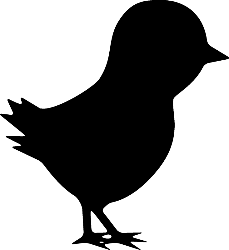 baby chicken silhouette at getdrawings com free for Rooster and Hen Art Hen and Rooster Outline