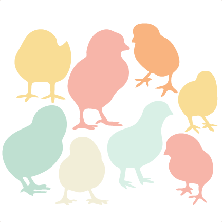 432x432 Baby Chick Silhouette Set Svg Scrapbook Title Cat Svg Cut Files
