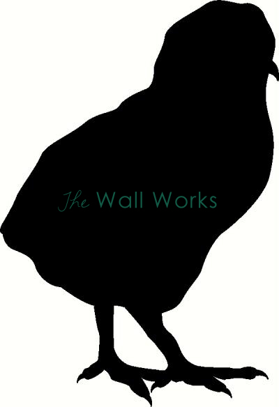 400x584 Baby Chick Wall Sticker, Vinyl Decal The Wall Works