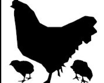 Baby Chicks Silhouette