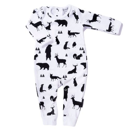 500x500 Woodland Silhouette Romper Coverall Woodland Silhouette Romper