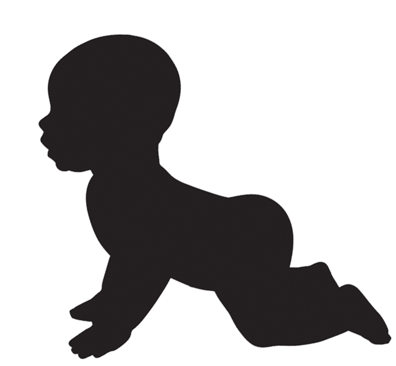 811x749 Crawling Baby Silhouette