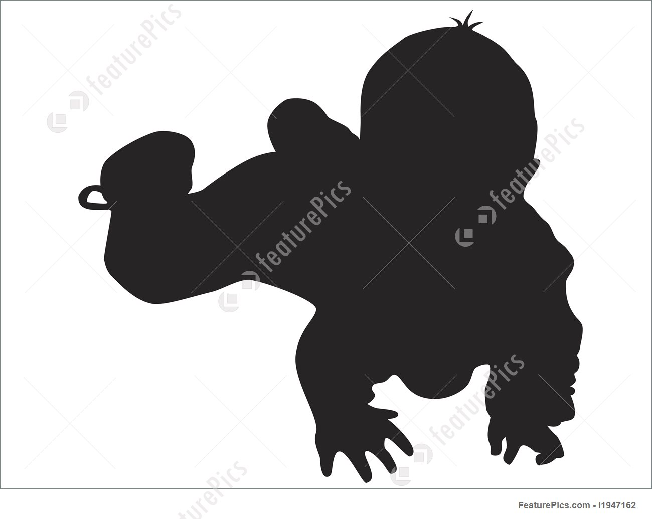 1300x1035 Silhouettes And Outlines Vector Little Baby Silhouette