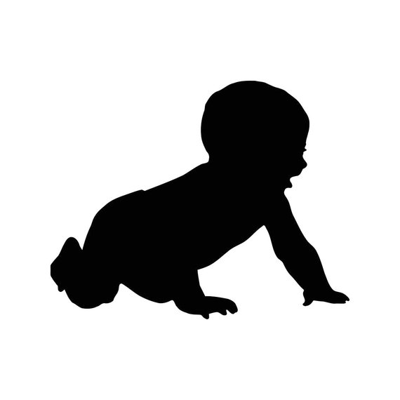 570x570 Baby Crawling Child Graphics Svg Dxf Eps Png Cdr Ai Pdf Vector