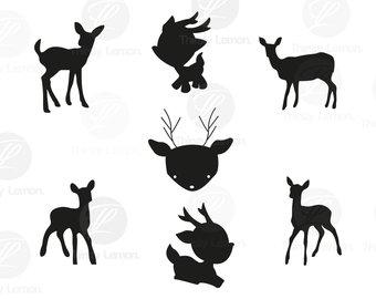 340x270 Baby Deer Clipart Etsy