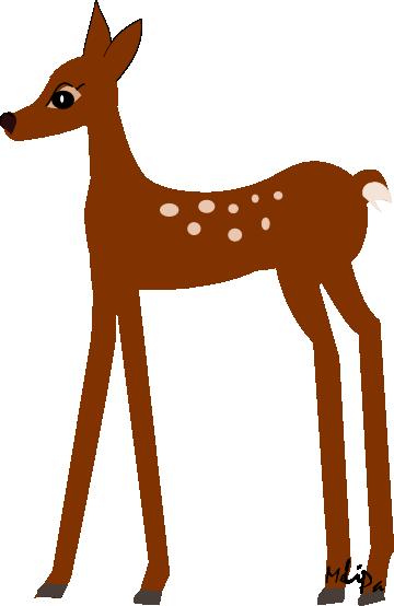360x554 Image Of Baby Deer Clipart