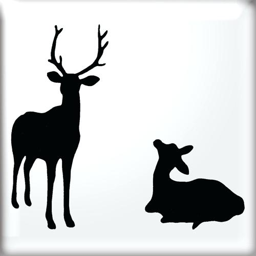 500x500 Baby Animal Stencils Mum And Baby Deer Silhouette Stencil Baby