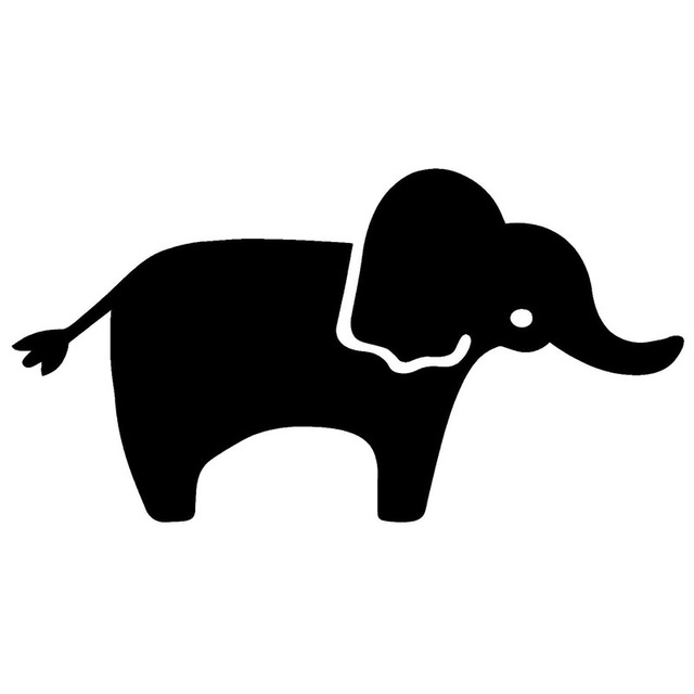 640x640 16.58.7cm Lovely Baby Elephant Silhouette Car Sticker Individual