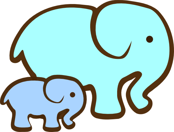 600x455 Cartoon Baby Elephant Silhouette Clipart Collection