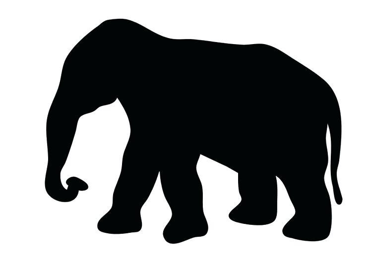 750x531 Outline Of An Elephant