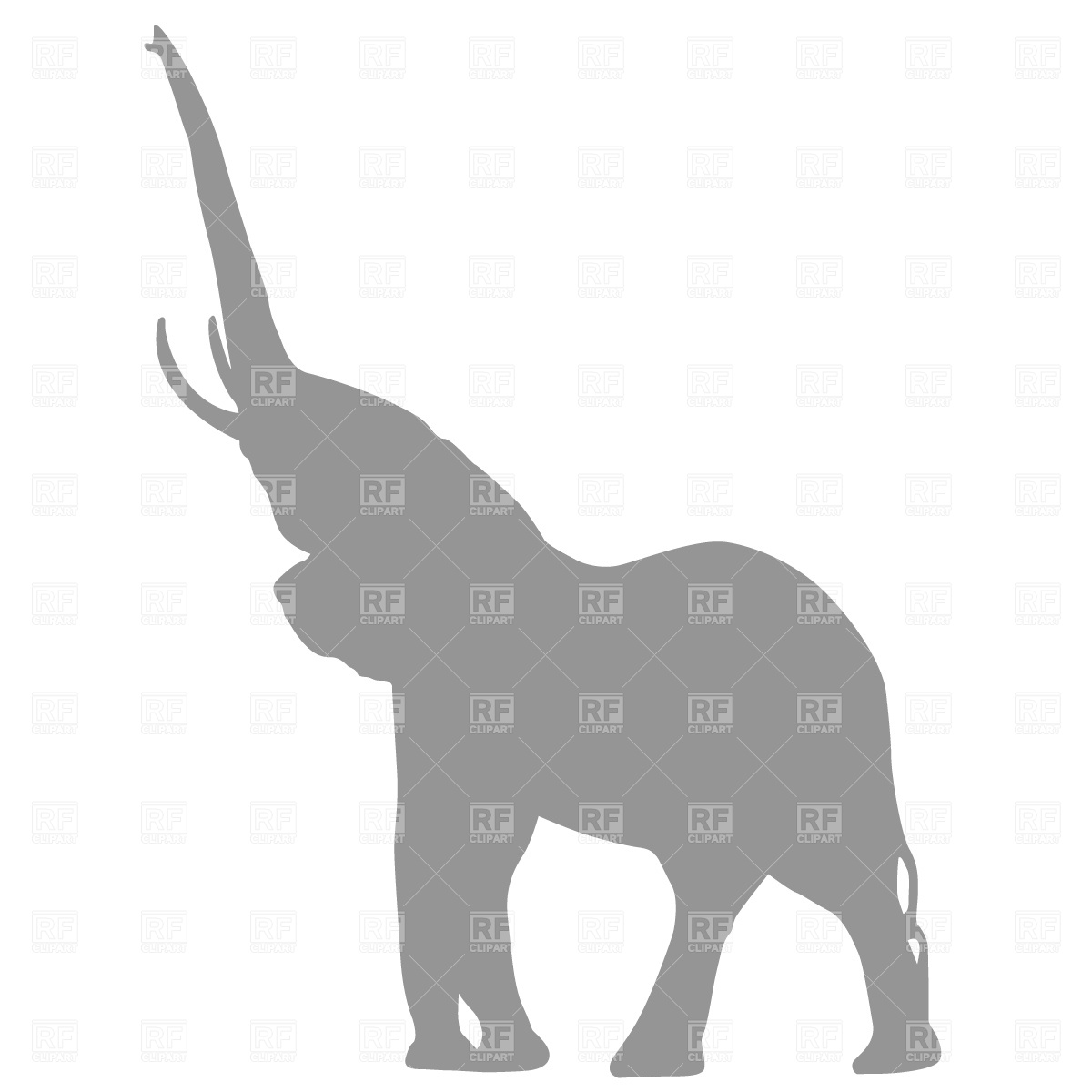 1200x1200 Baby Elephant Silhouette Clipart