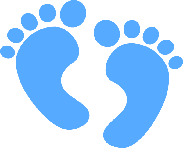 600x487 Baby Feet Blue Hi.png Silhouette Clip