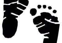 200x140 Baby Feet Silhouette Ba Feet Clean Black Icon Stock Vector