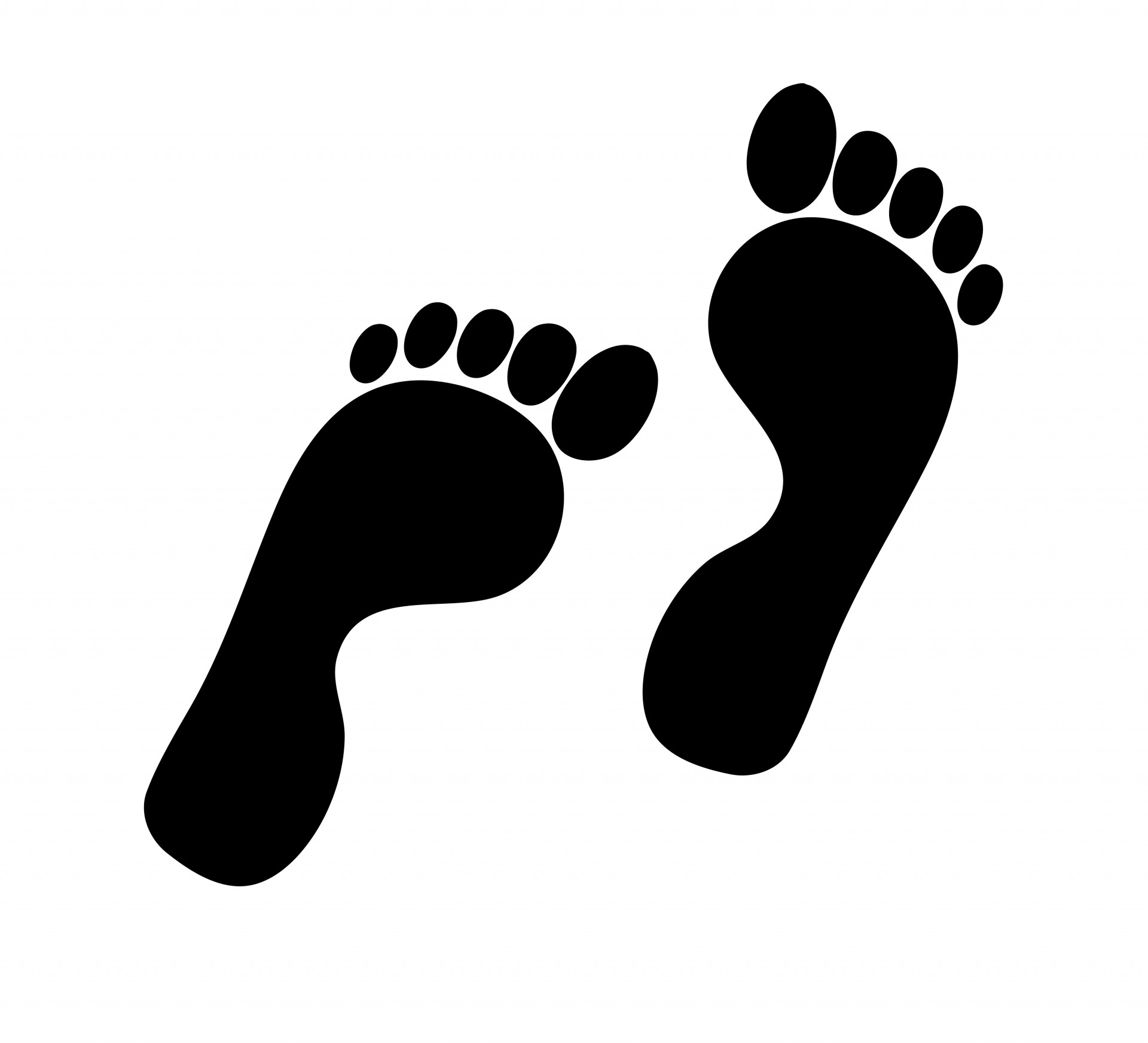 1920x1743 Footprints Silhouette Clipart Free Stock Photo