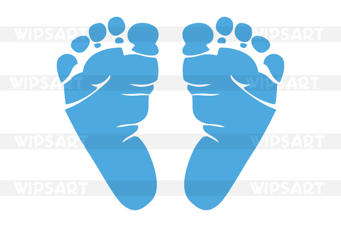 1160x772 Sale! Baby's First Svg File, Baby Feet Silhouette Svg, Baby Feet