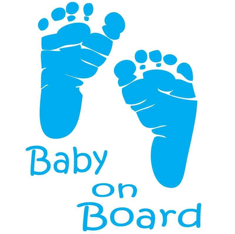 800x798 Baby On Board Foot Print Decal, Stickers For Gals Decals, Girls