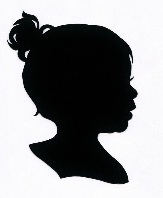 570x689 Silhouette, Custom, Hand Cut Silhouette Portrait Profile Babies