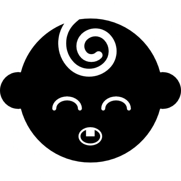 626x626 Black Baby Head With Closed Eyes Icons Free Download