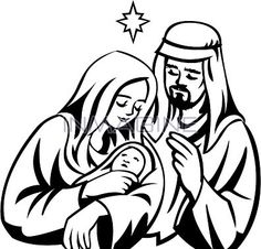 236x226 Mary Joseph And Baby Jesus Clipart