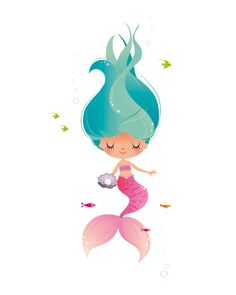 236x295 Cartoon Mermaid Cute Cartoon Mermaid With Seahorse Graphics