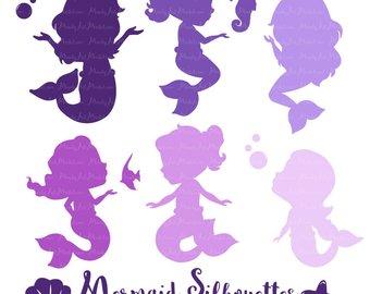 340x270 Cute Glitter Mermaids Clipart Purple Mermaid Glitter