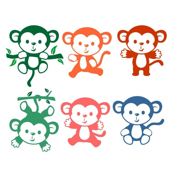 600x600 Little Monkey Cuttable Design