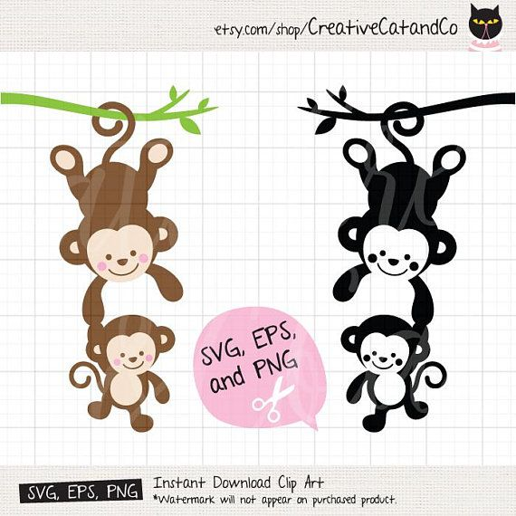 570x570 Monkey Svg Monkey Mom And Baby Monkey Svg Monkey Silhouette Svg