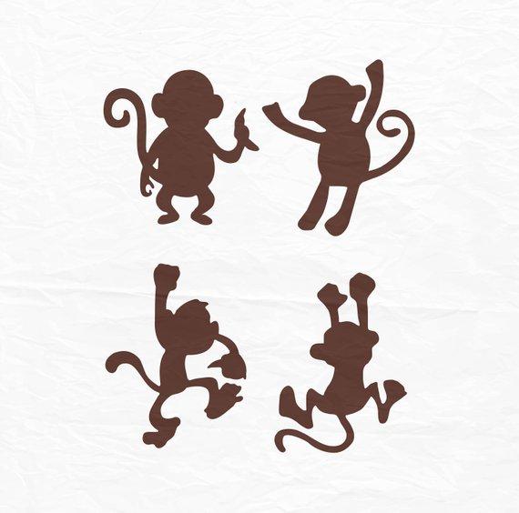570x564 Monkey Svg Monkey Silhouette Monkey Monogram Svg Svg Files