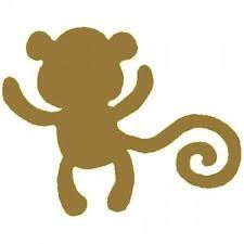 225x225 Monkey silhouette To be painted or made Pinterest Monkey