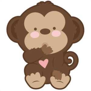 300x300 Baby Monkey SVG scrapbook cut file cute clipart files for