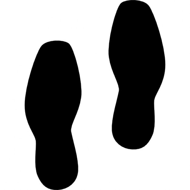 626x626 Footprint Of Shoes Silhouette Icons Free Download