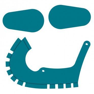 370x370 Baby Shoe Steel Rule Die Accucut Craft Silhouette