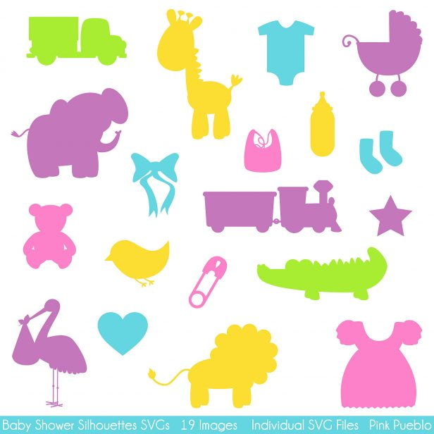 616x616 Baby Shower. Baby Shower Stencils Baby Shower Silhouettes Svgs