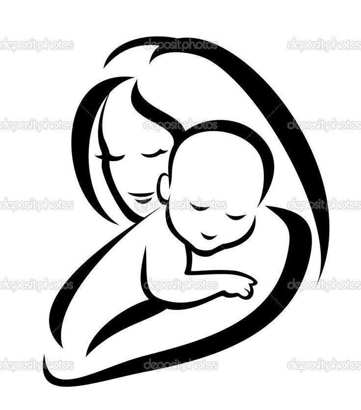 736x837 Drawn Baby Silhouette