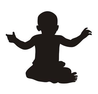 320x306 Baby Silhouette 2 Decal Sticker