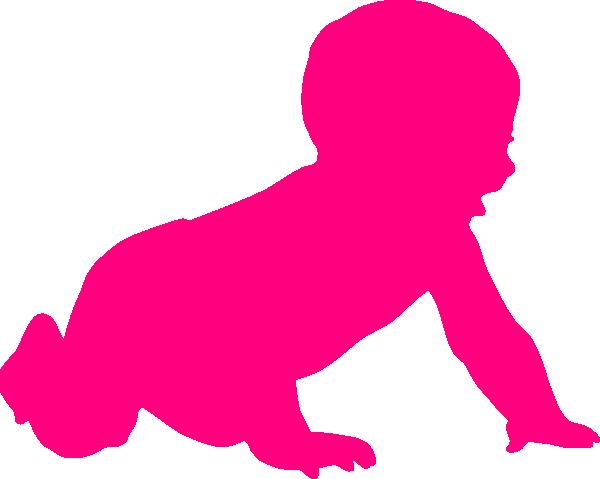 600x479 Baby Silhouette Clip Art
