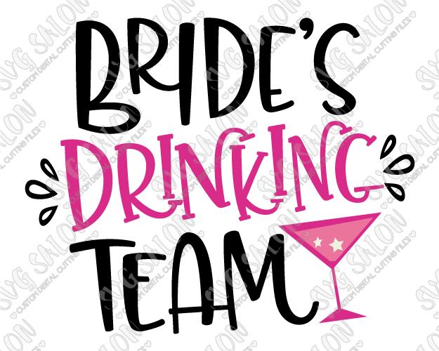 625x500 Drinking Team Bachelorette Party Svg Cut File Set
