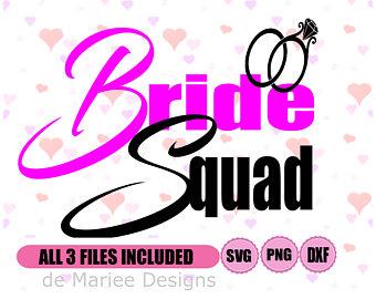 340x270 Bride Squad Svg Etsy