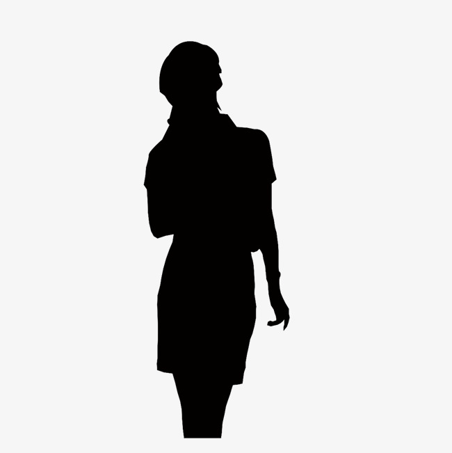 650x651 Black Silhouette Lonely Back, Lonely Back, Black, Lonely Png Image