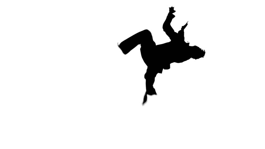 852x480 Young Fit Man Jumping, High Kick And Fist Punch, Isolated On White
