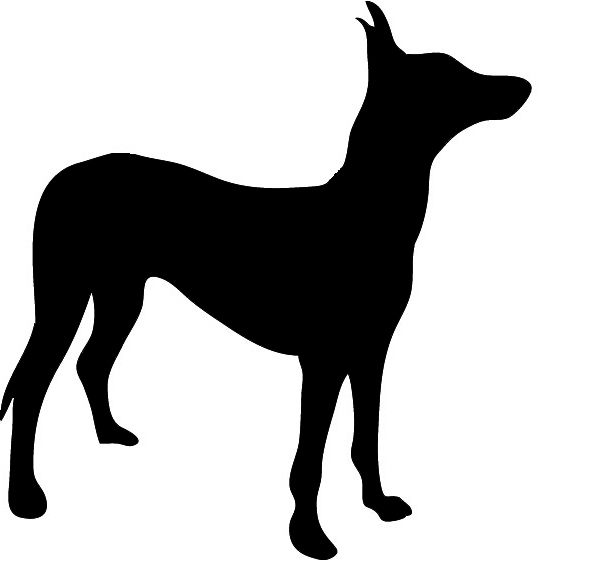 602x561 Dog Silhouette