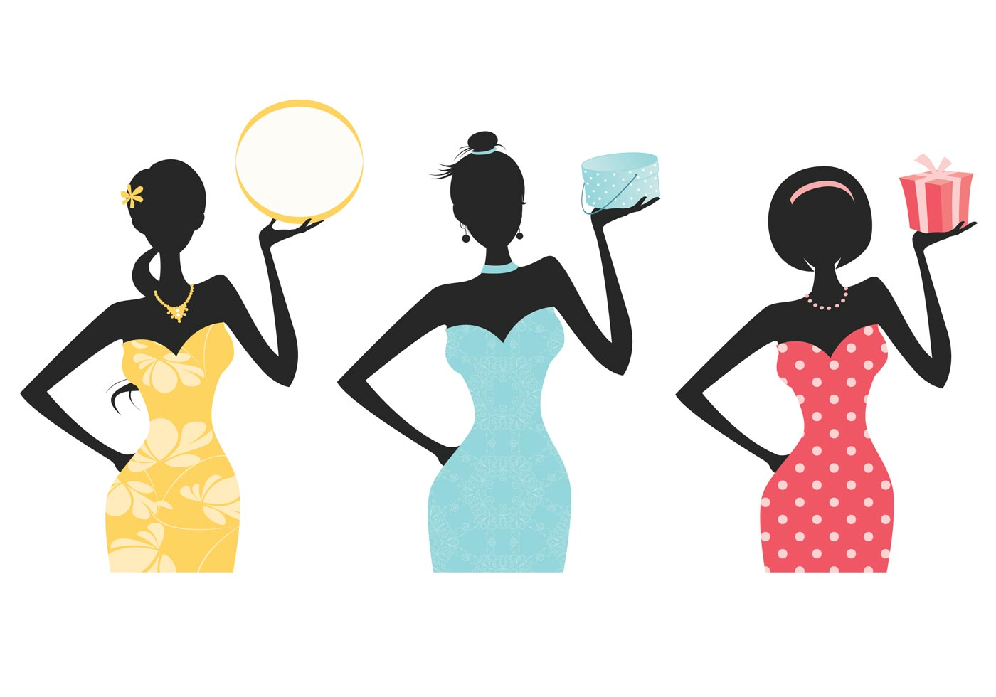 1400x980 Fashionista Women Silhouette Brushes And Background Pack