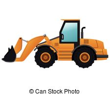225x194 Digger Work Machine Black Silhouette On White Background Vectors