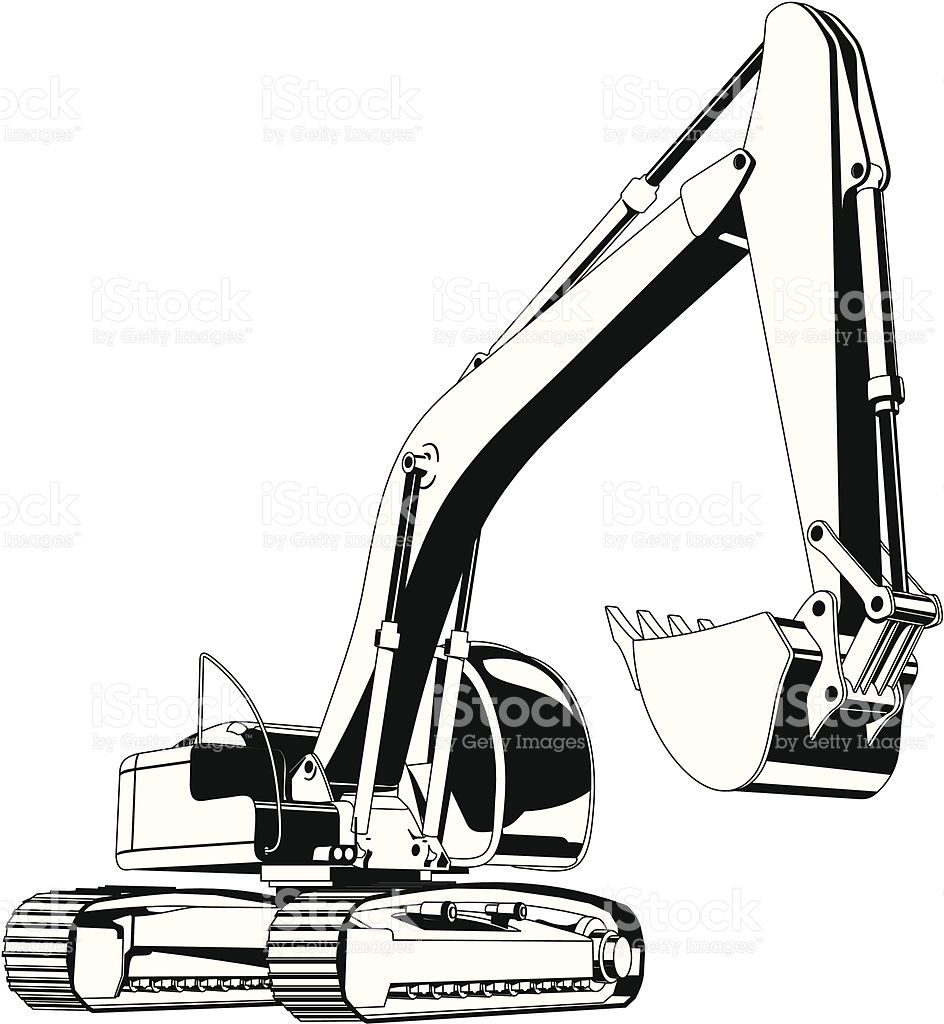 944x1024 Excovator Clipart Sketch 3509117
