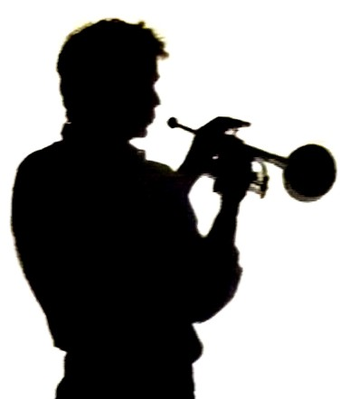 376x442 Trumpet Silhouette Clipart